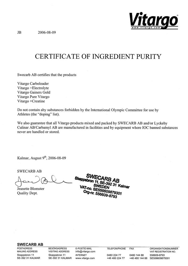 vitargo-certificate-of-ingredient-purity